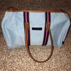 Nautica light blue tote bag